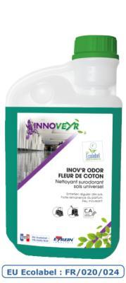 INOV'R ODOR FLEUR DE COTON Ecolabel Flacon Doseur 1L